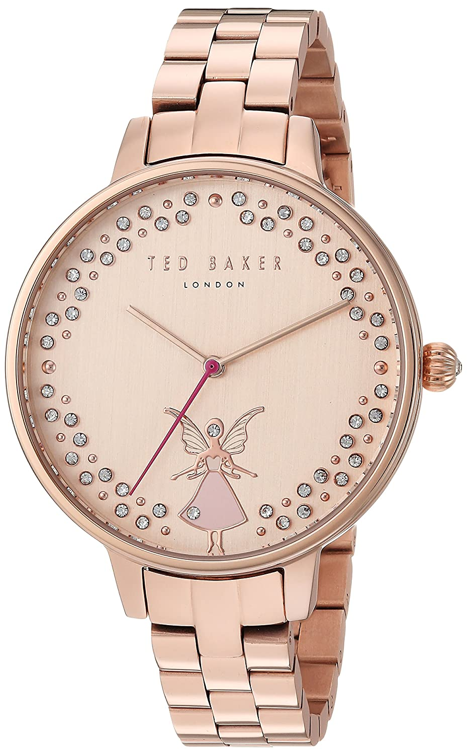 79e4ba0fe Ted Baker Womens Kate Pink Fairy Crystal Set Rose Gold Dial TE50005003   Amazon.co.uk  Watches