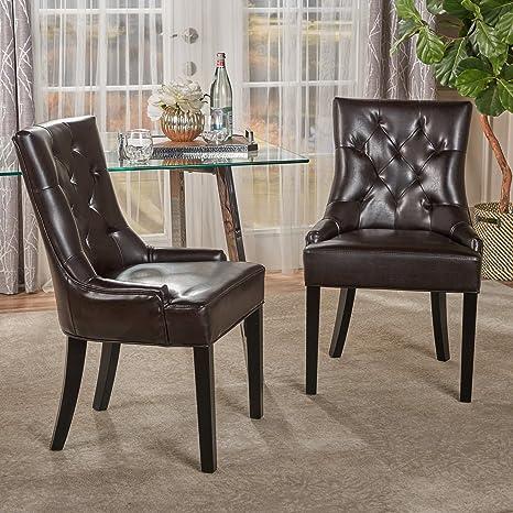 Amazon.com: Juego de 2 sillas de comedor Stacy Light Sky, en ...