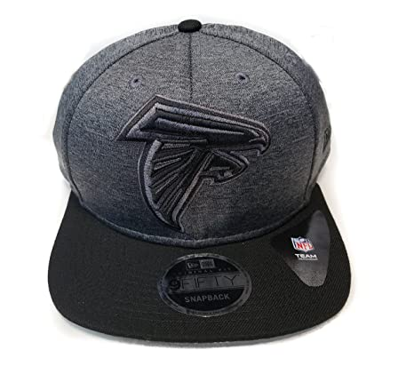 5728677ebe576 Image Unavailable. Image not available for. Color  New Era Atlanta Falcons  9Fifty Black   Black Logo Adjustable Snapback Hat NFL