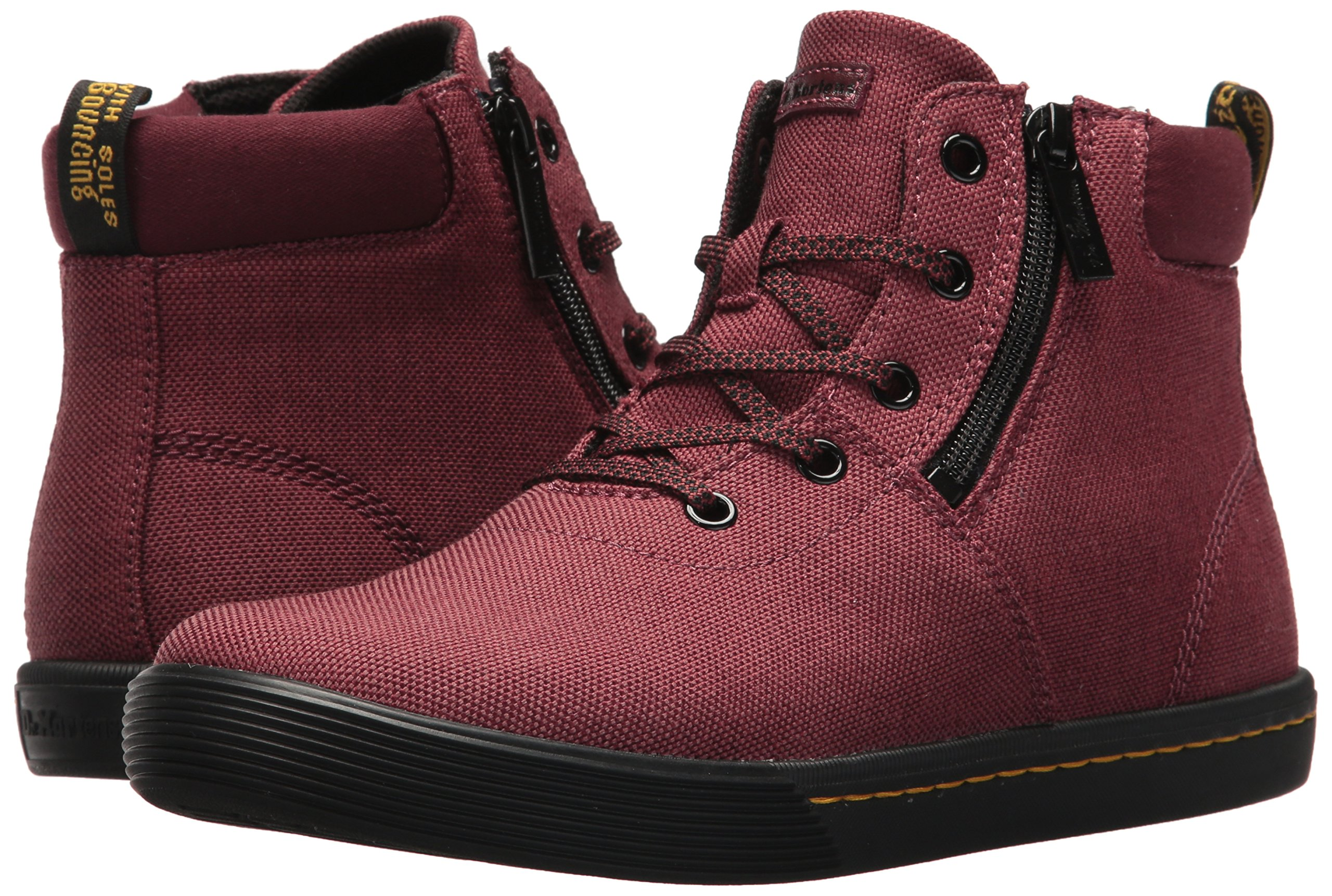 Dr. Martens Women's Maegley Fashion Boot, Cherry Red Woven Textile+Fine Canvas, 5 Medium UK (7 US) by Dr. Martens (Image #6)