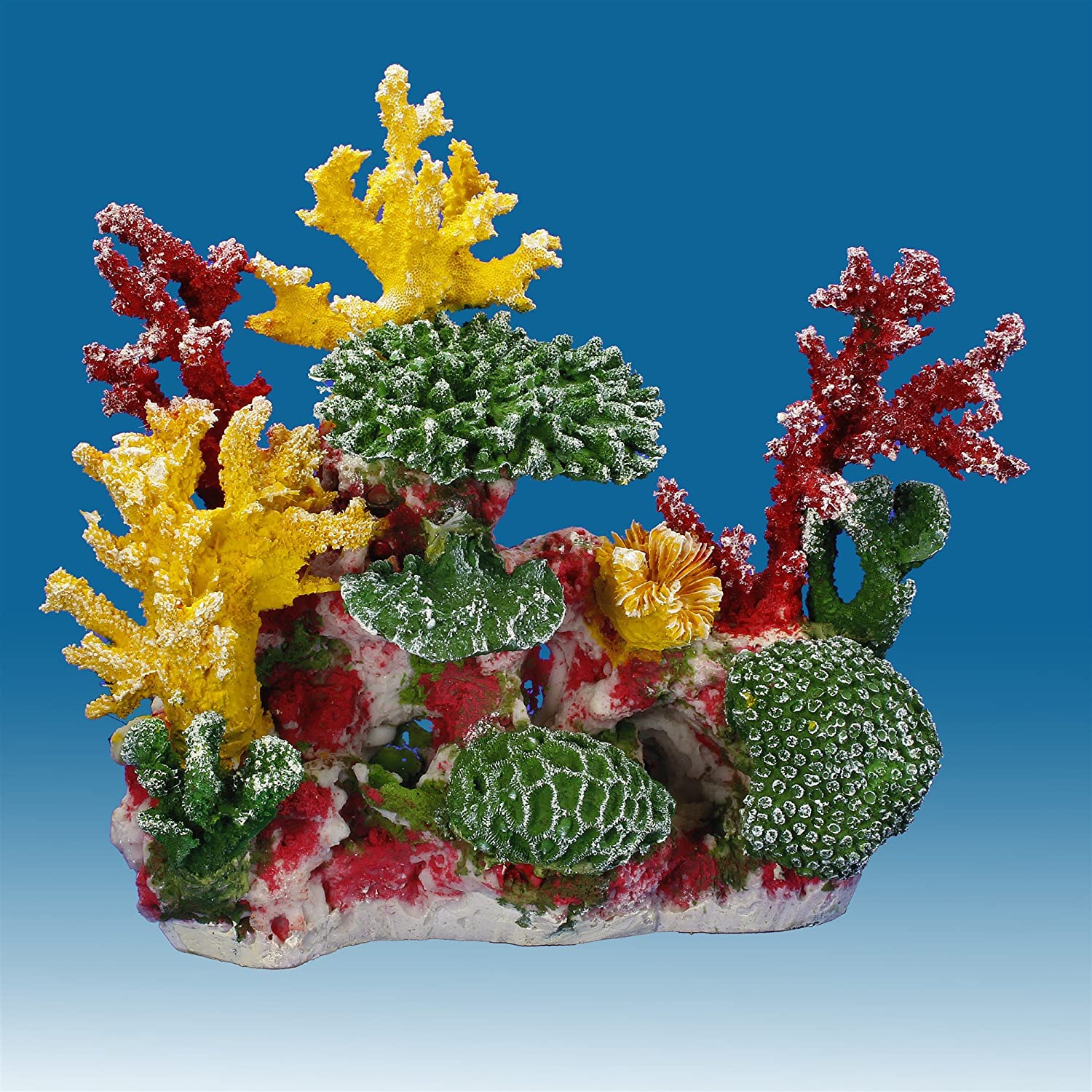 Instant Reef DM056 Artificial Coral Inserts Decor, Fake Coral Reef Decorations for Colorful Freshwater Fish Aquariums, Marine and Saltwater Fish Tanks