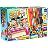 3 Layers Jumbo Arts and Crafts Supplies Warehouse, Funkidz 1500+ Premium Huge Craft Materials Kit for Kids Big Creative Activ