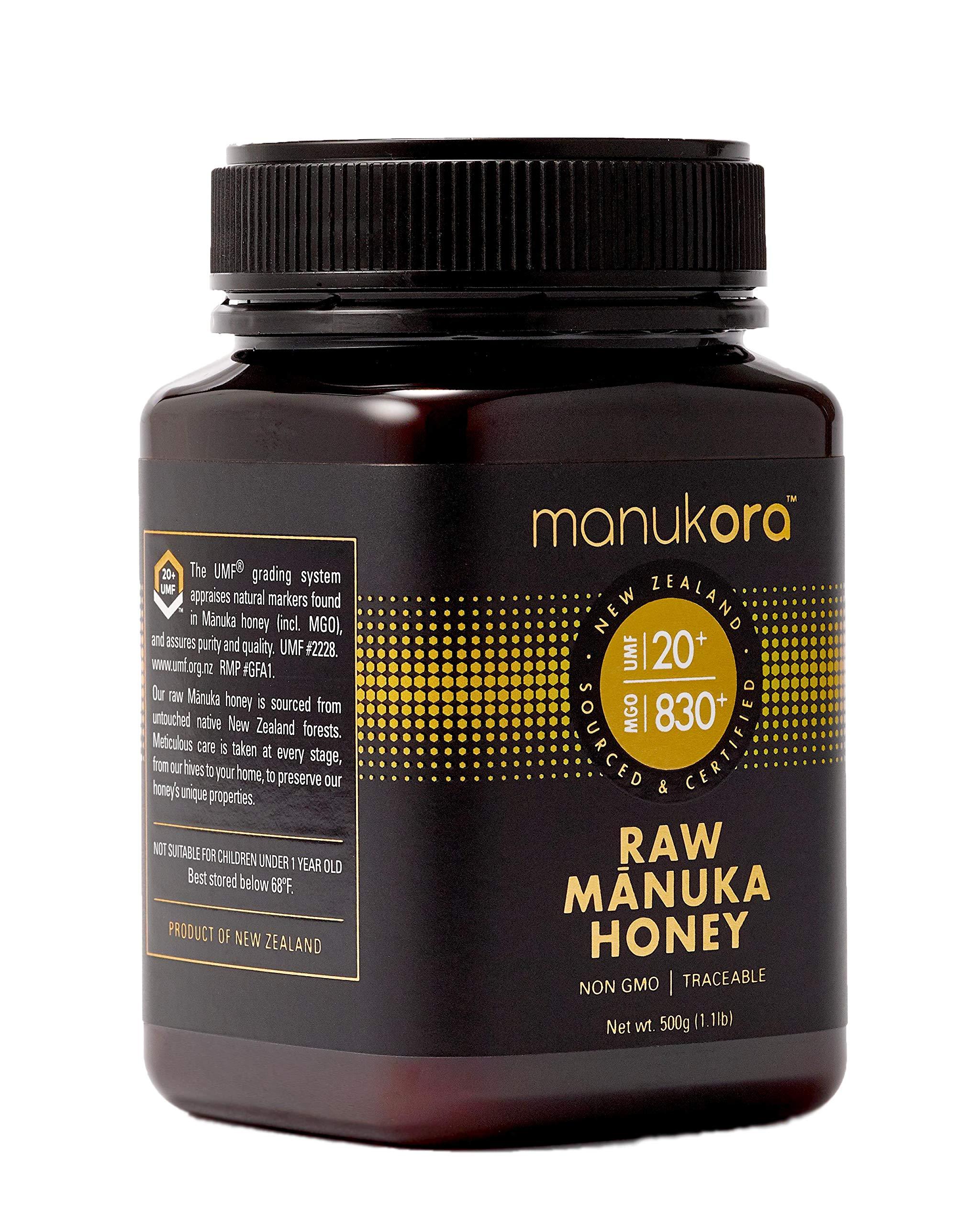 Manukora UMF 20+/MGO 830+ Raw Mānuka Honey (500g/1.1lb) Authentic Non-GMO New Zealand Honey, UMF & MGO Certified, Traceable from Hive to Hand by Manukora (Image #3)