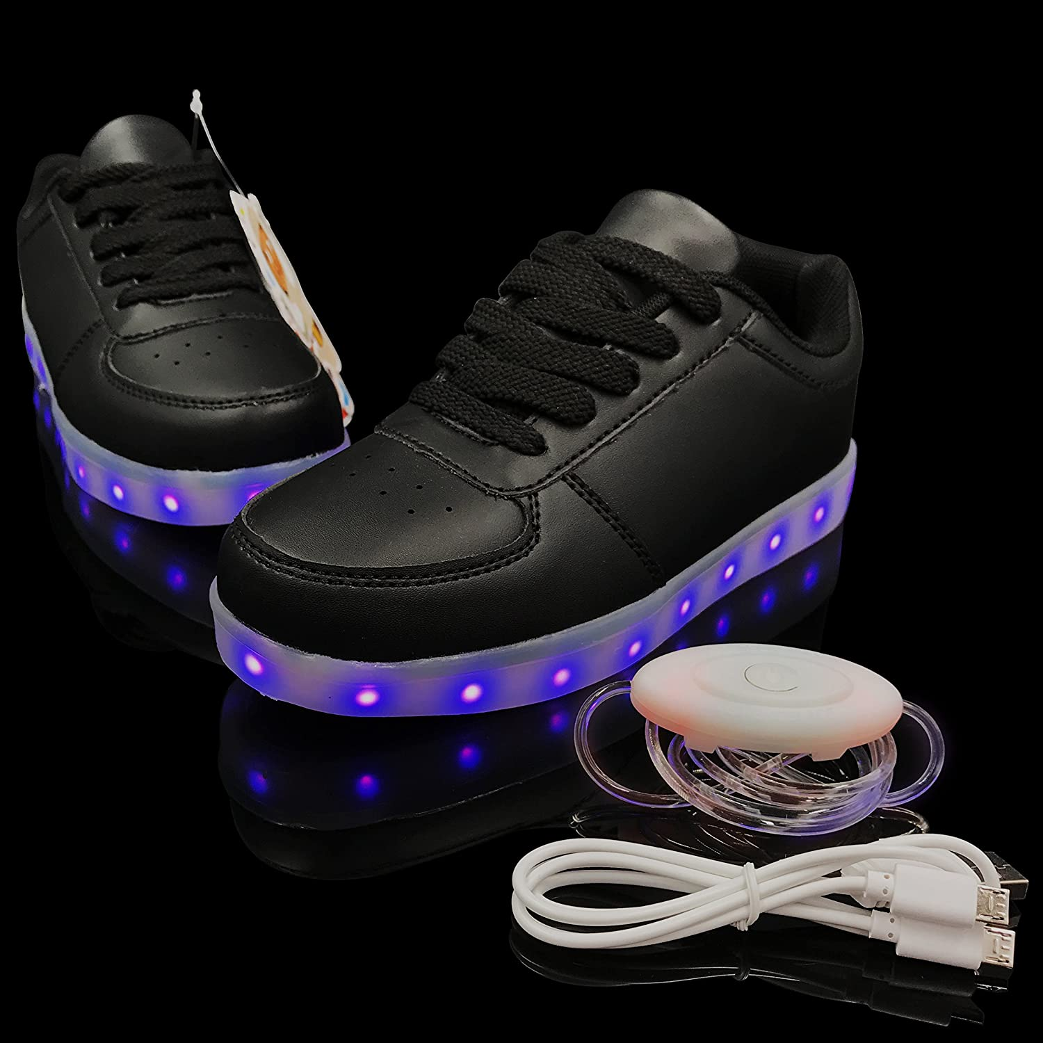 FADIMAN Flashing Sneakers with Free Light up Shoelaces