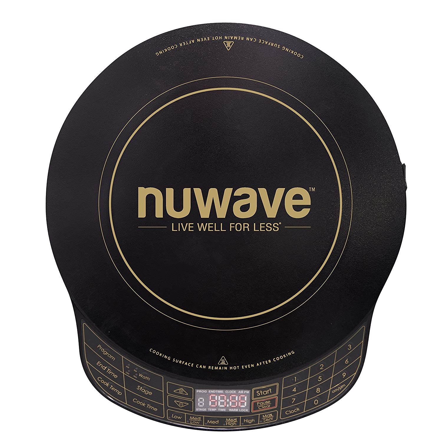 NuWave Platinum 30401 Precision Induction Cooktop, Black with Remote and Advanced Features for 2018
