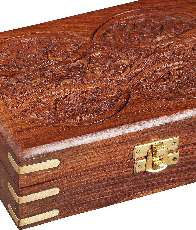 Caja oriental de almacenamiento peque/ña con tapa Doaa de 18cm de alto Caja marroqu/í de madera Caja oriental de joyas para ni/ñas y damas para almacenamiento de joyas