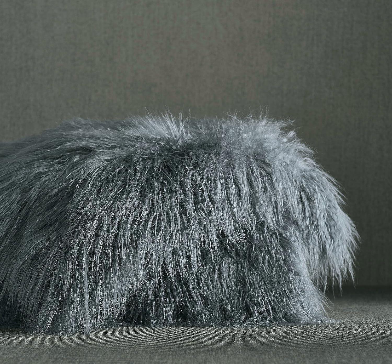 Luxury Faux Fur Oversized Throw Blanket with PlushベルベットReverse、フォックスLynxまたはグレーミンク ブルー B07819WQPW Slate Mongolian