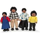 Tidlo Wooden Black Doll Family