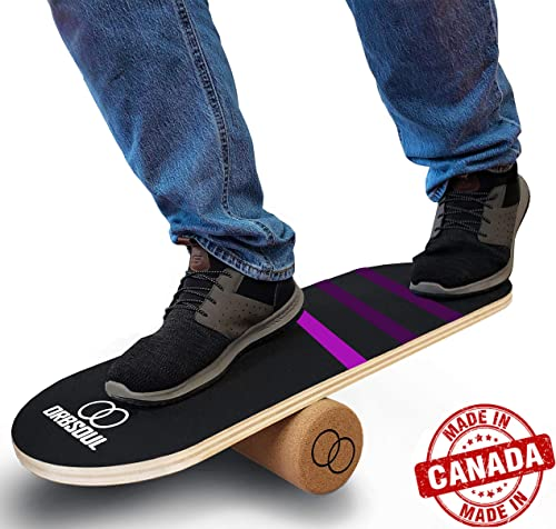 Orbsoul Balance Board Trainer – Premium Canadian Maple Deck 100 All-Natural Cork Roller