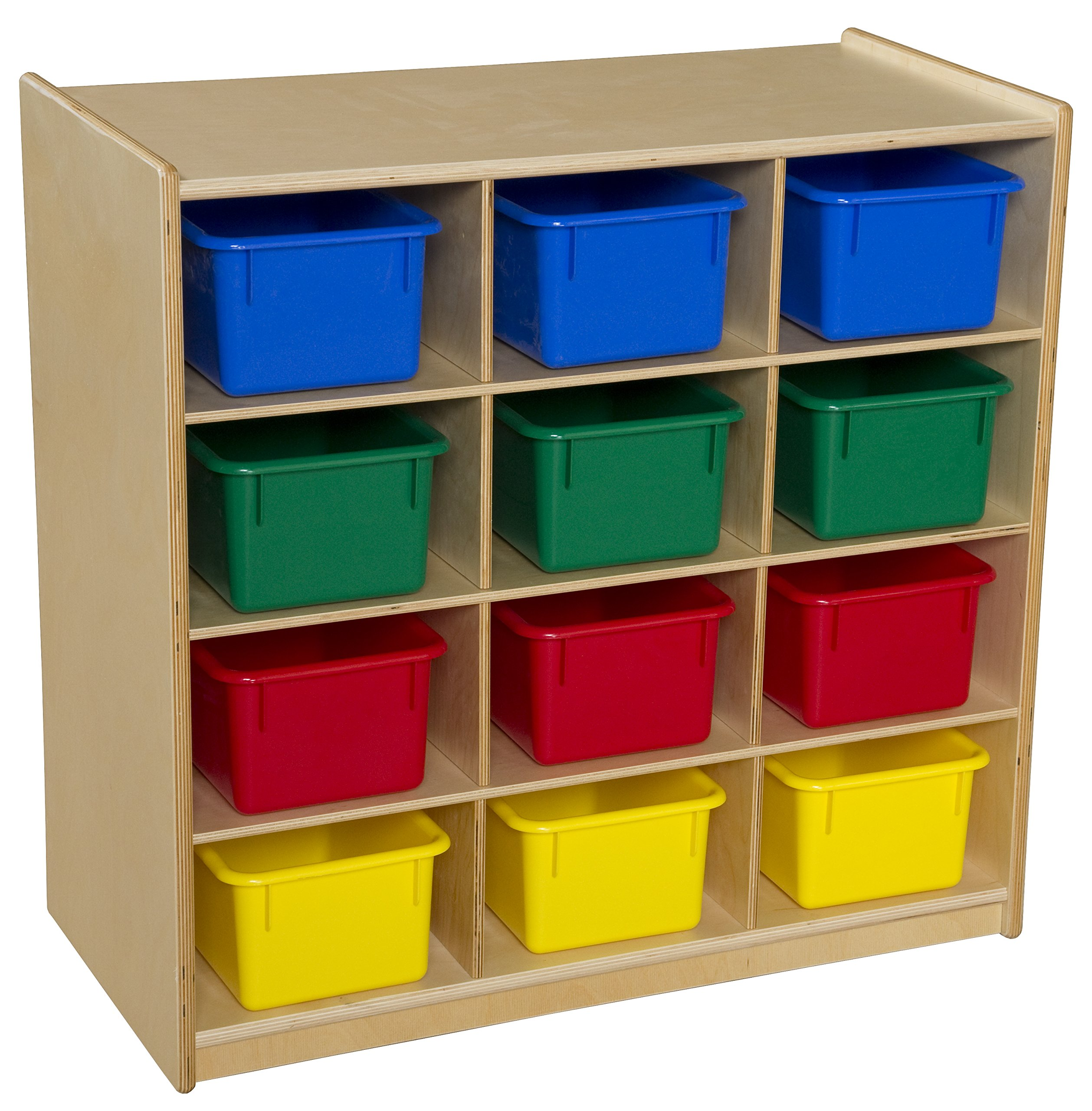 Wood Designs 16123 Cubby Storage with Assorted Trays