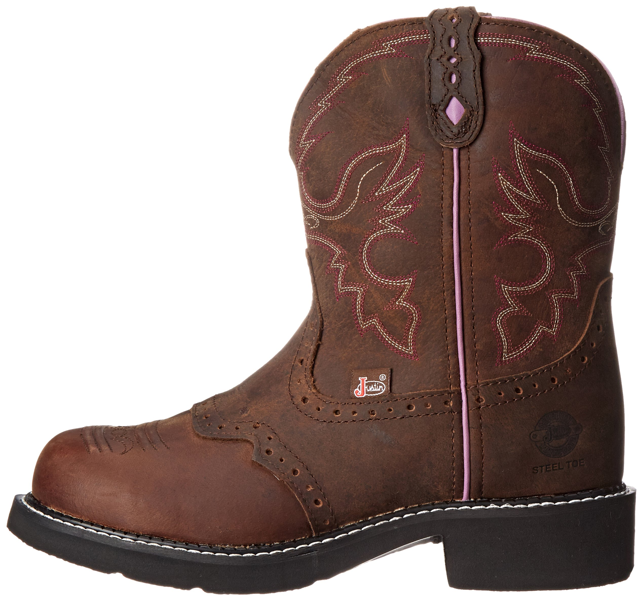 Justin Boots Women's Gypsy Collection 8'' Steel Toe,Aged Bark,6B by Justin Boots (Image #5)