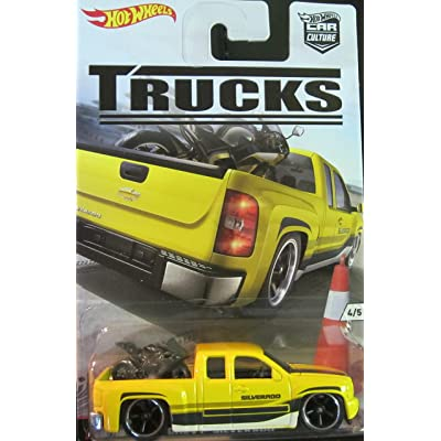 Hot Wheels Car Culture Trucks Limited Edition Real Riders Metal/Metal Chevy Silverado 4/5: Toys & Games