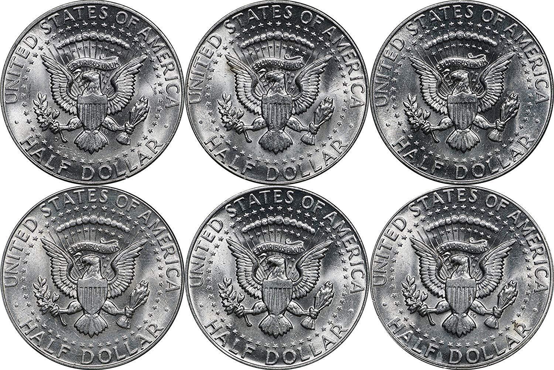 1964-1969-1970 P//D BU Kennedy Silver Half Dollars 8 Piece UNC Set