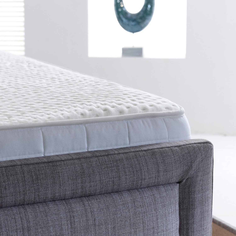 AVAX 1500 muelles ensacados colchón de Espuma de Memoria de Lujo con Alta Spec Natural de bambú Superficie de Dormir y 100% Egipcio algodón Acolchado ...