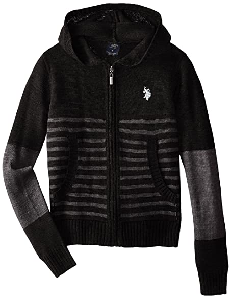 Amazon.com: U.S. Polo Assn. Big Boys' Hooded Sweater Jacket: Clothing
