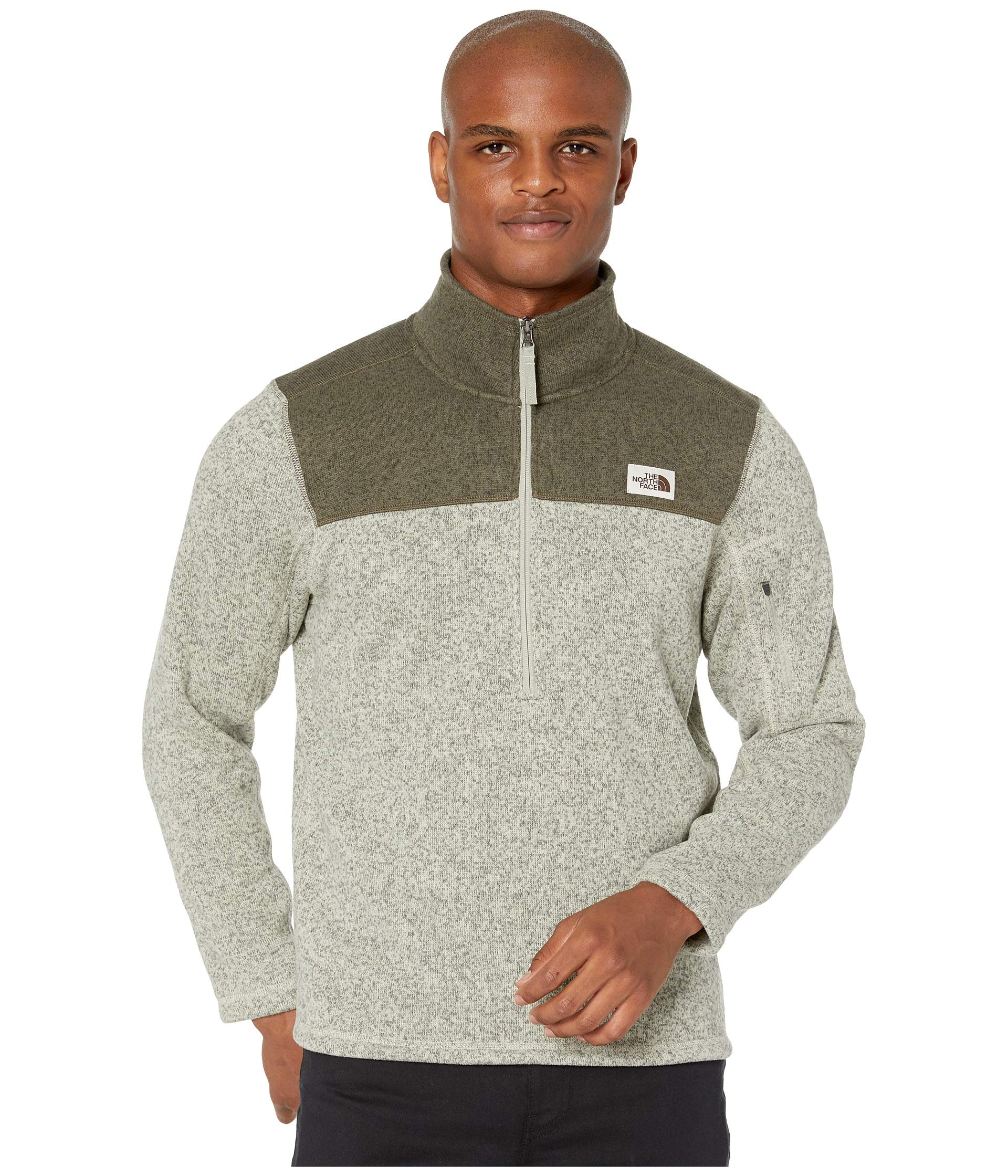 The North Face Men's Gordon Lyons Quarter Zip Pullover, Granite Bluff Tan Heather/New Taupe Green Heather, Small by The North Face