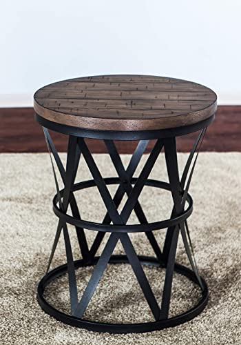 Round Coffee Table Modern Faux Marble Style