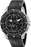 Tissot Men's  'T Navigator' Black Dial Black Rubber Strap Chronograph Watch T062.427.17.057.00