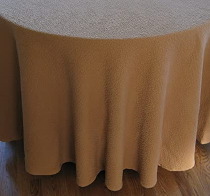 Delicieux Caramel Tan 90u0026quot; Round Tablecloth Woven Textured Heavyweight Cotton  Matelasse 90 Inch Fabric Table Rd