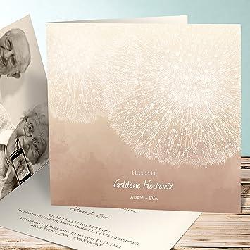 Einladungskarten Goldene Hochzeit Vorlagen Löwenzahn 15