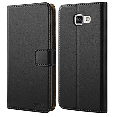 new style abb4d d3319 HOOMIL Galaxy A3 2016 Case Premium Leather Case for Samsung Galaxy A3 2016  Phone Cover (Black)