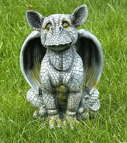 Gartenfigur Gargoyle Drachen Baby Ich War Das Nicht Wetterfest