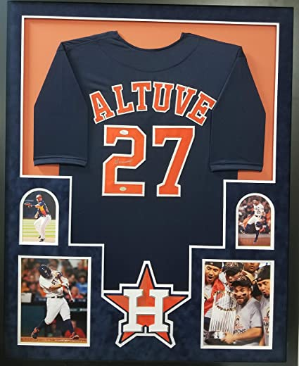 hot sales ca2d1 66ae7 Jose Altuve Houston Astros Autograph Signed Custom Framed ...