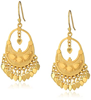 Amazon satya jewelry classics gold plated petal chandelier satya jewelry classics gold plated petal chandelier earrings aloadofball Images
