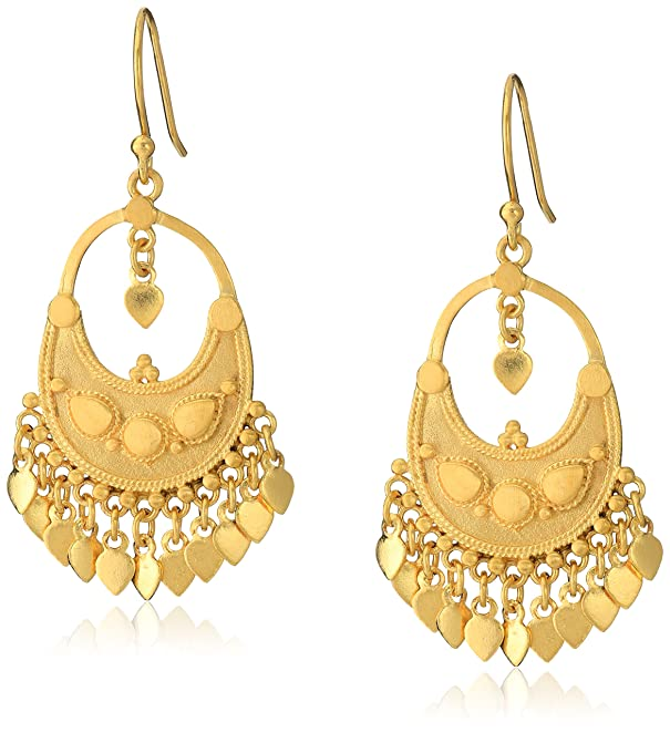 Amazon.com: Satya Jewelry Classics Gold-Plated Petal Chandelier ...