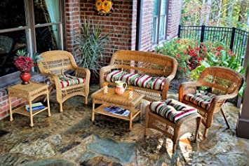 tortuga outdoor ps6s amber eastp portside seating group with southwest amber wicker eastbay pompeii - Garden Furniture East Bay