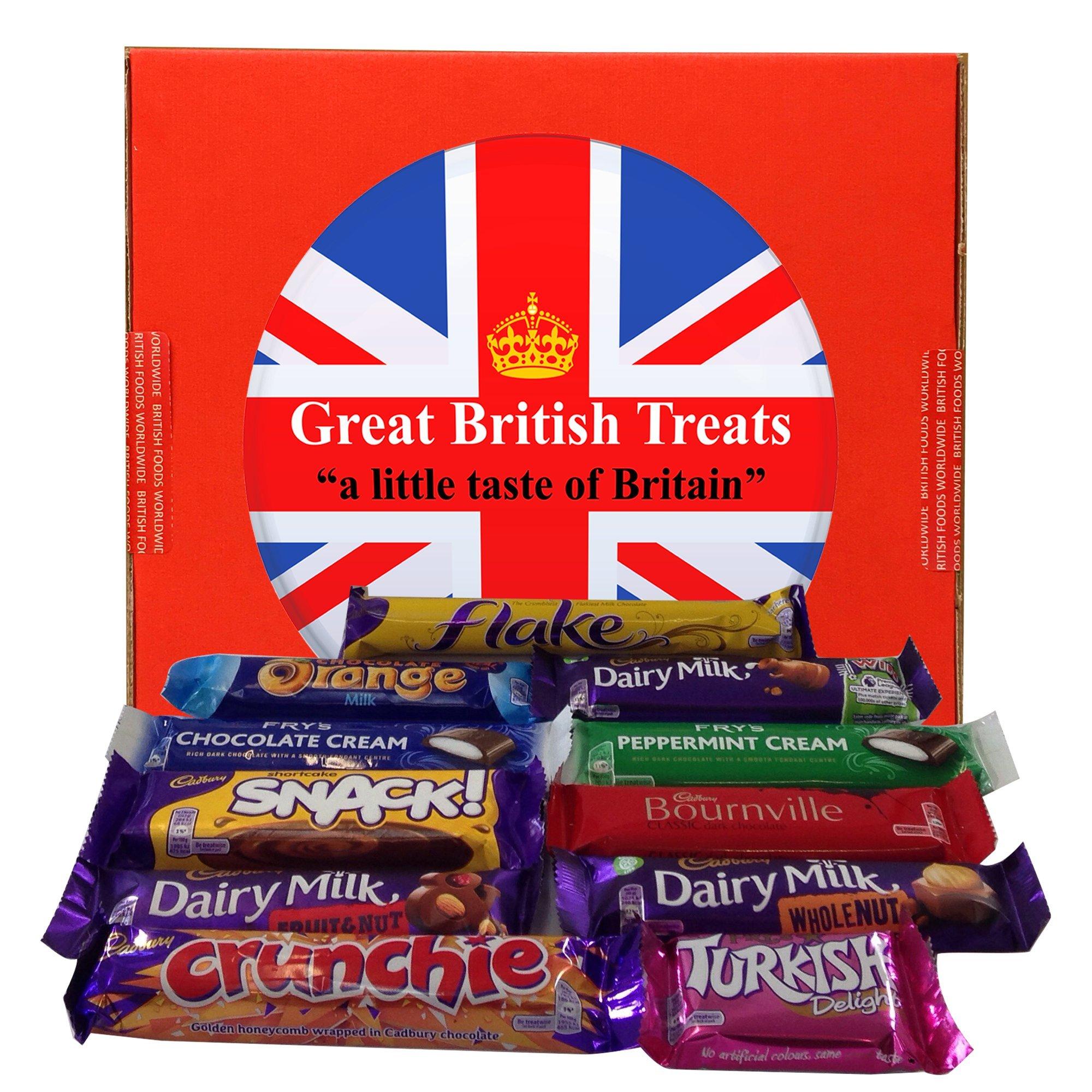 British Foods Worldwide Favourite Cadbury Selection | An assortment of 11 Cadbury British Chocolate Bars