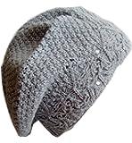 Frost Hats M-124 Winter Hat for Women Beret Hat Rhinestone Knitted Beanie Frost Hats