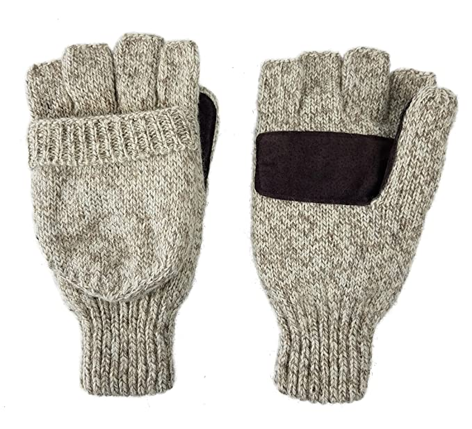 Bruceriver Wool Knitted Convertible Fingerless Driving Gloves with ...