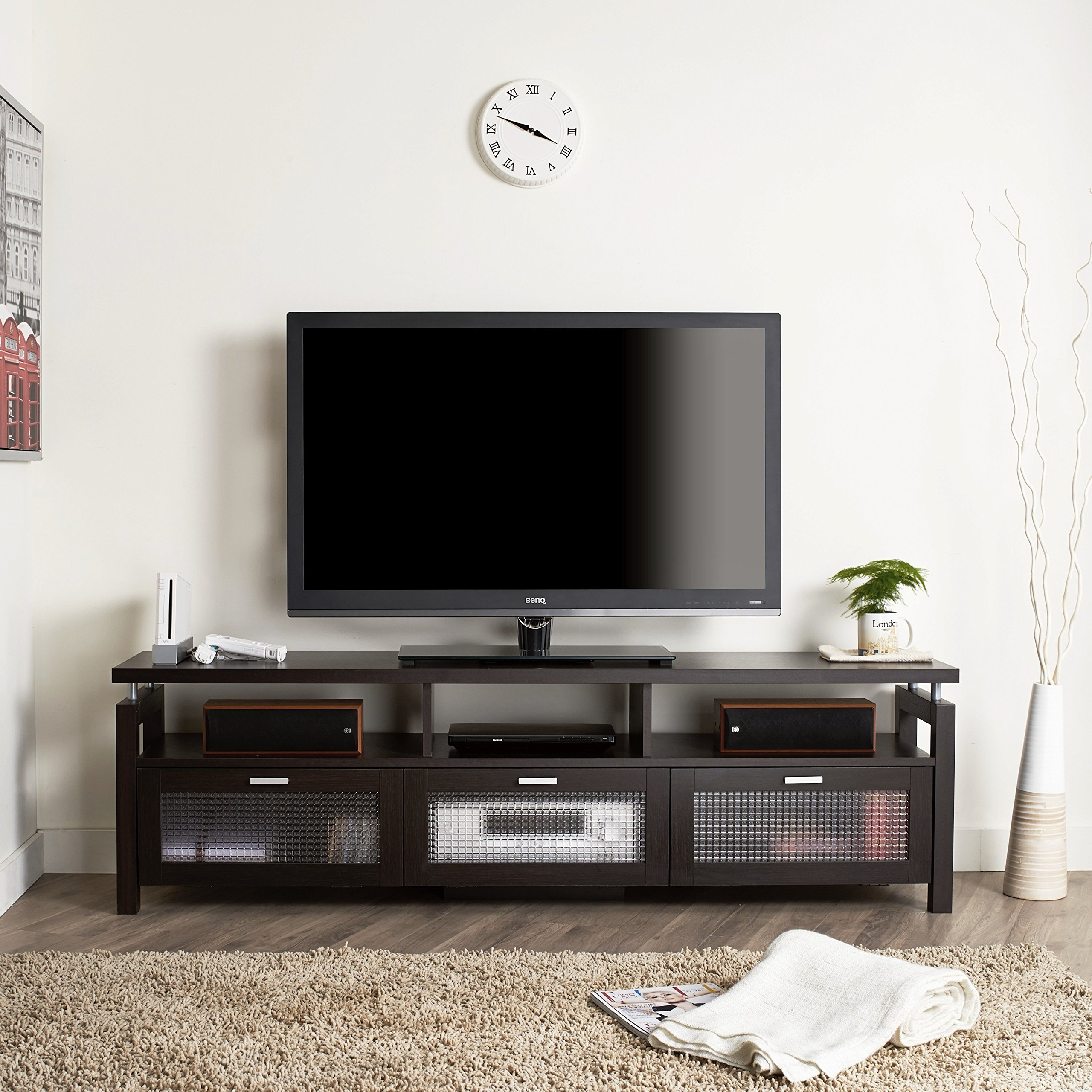 Furniture of America Bauston Espresso Entertainment Console/Contemporary Tv Stand by Furniture of America
