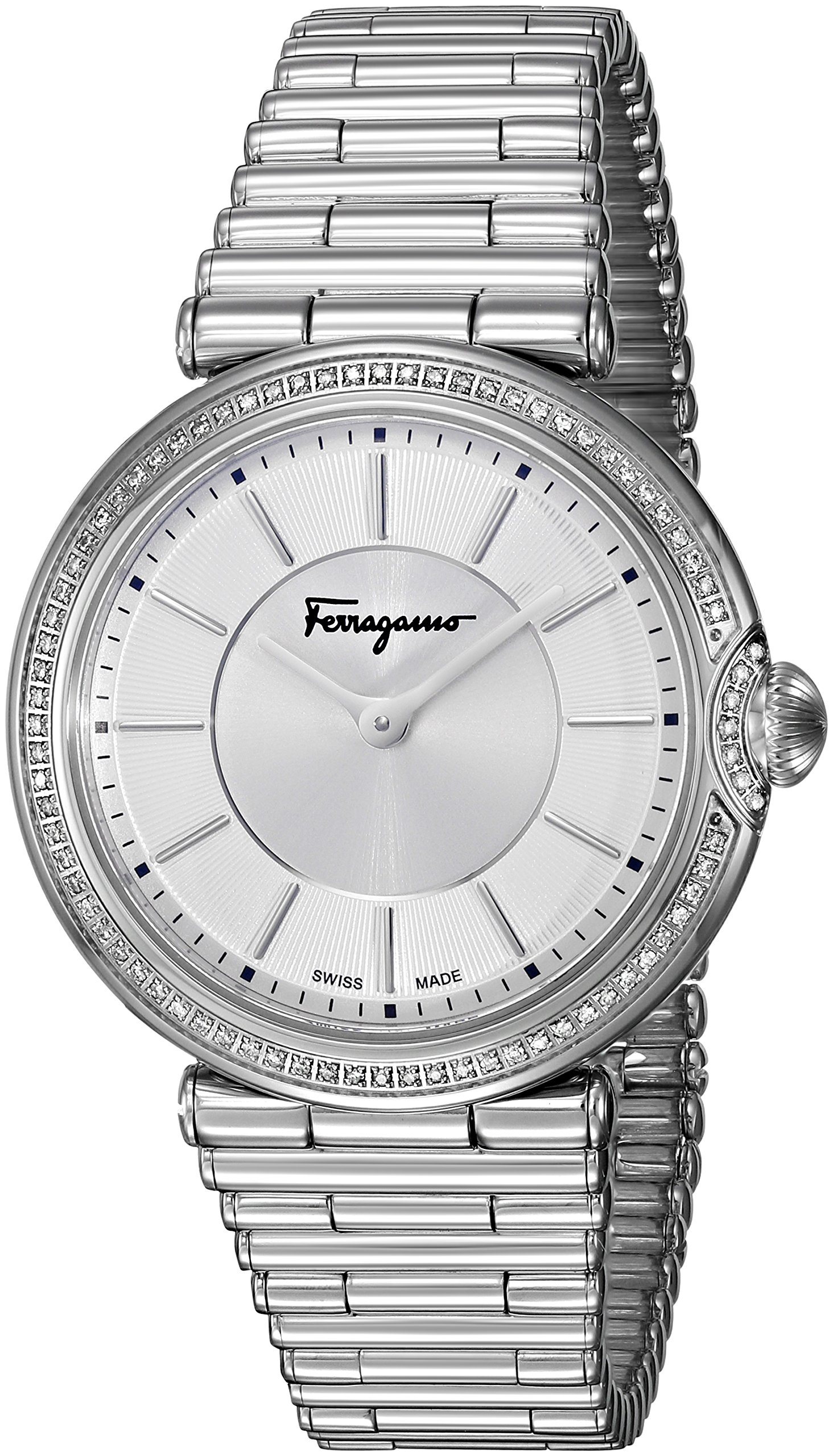 Salvatore Ferragamo Women's FIN050015 Style Analog Display Quartz Silver Watch by Salvatore Ferragamo