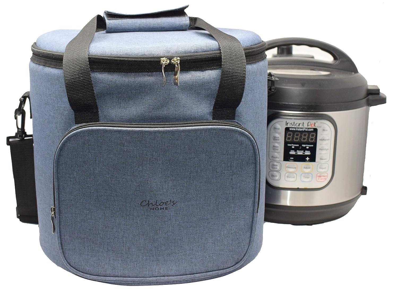 Chloeのホーム旅行バッグfor Instant Pot – 万能トートバッグfor Smallアプライアンス& More with Carryingストラップ、ハンドル、&外部Zip pocket-インスタントポットアクセサリーfor旅行 8QT B07CX8DYCC Anthracite Gray 8QT