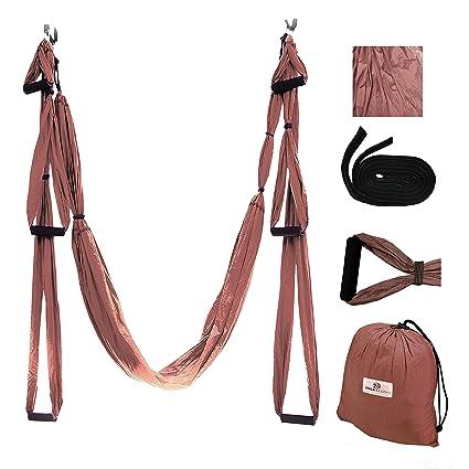 Gravotonics Aerial Yoga Columpios, marrón: Amazon.es ...
