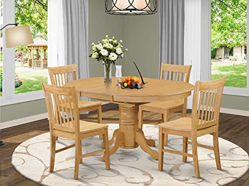 East West Furniture modern dining table set 4 Amazing dining room chair