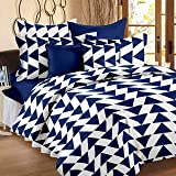 Story@Home Candy 120 TC Double Bedsheet With 2 Pillow Covers, Navy