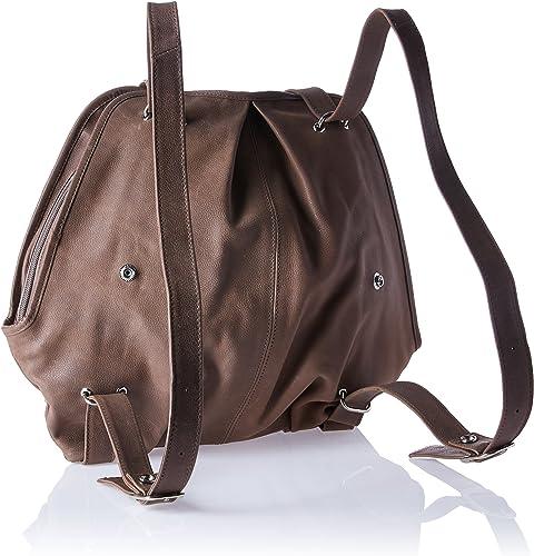 Piel Leather Convertible Buckle Backpack'shoulder Bag