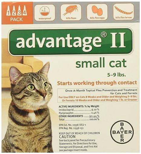 Advantage Ventaja II para Gatos 5 – 9 Libras~ 4 Meses