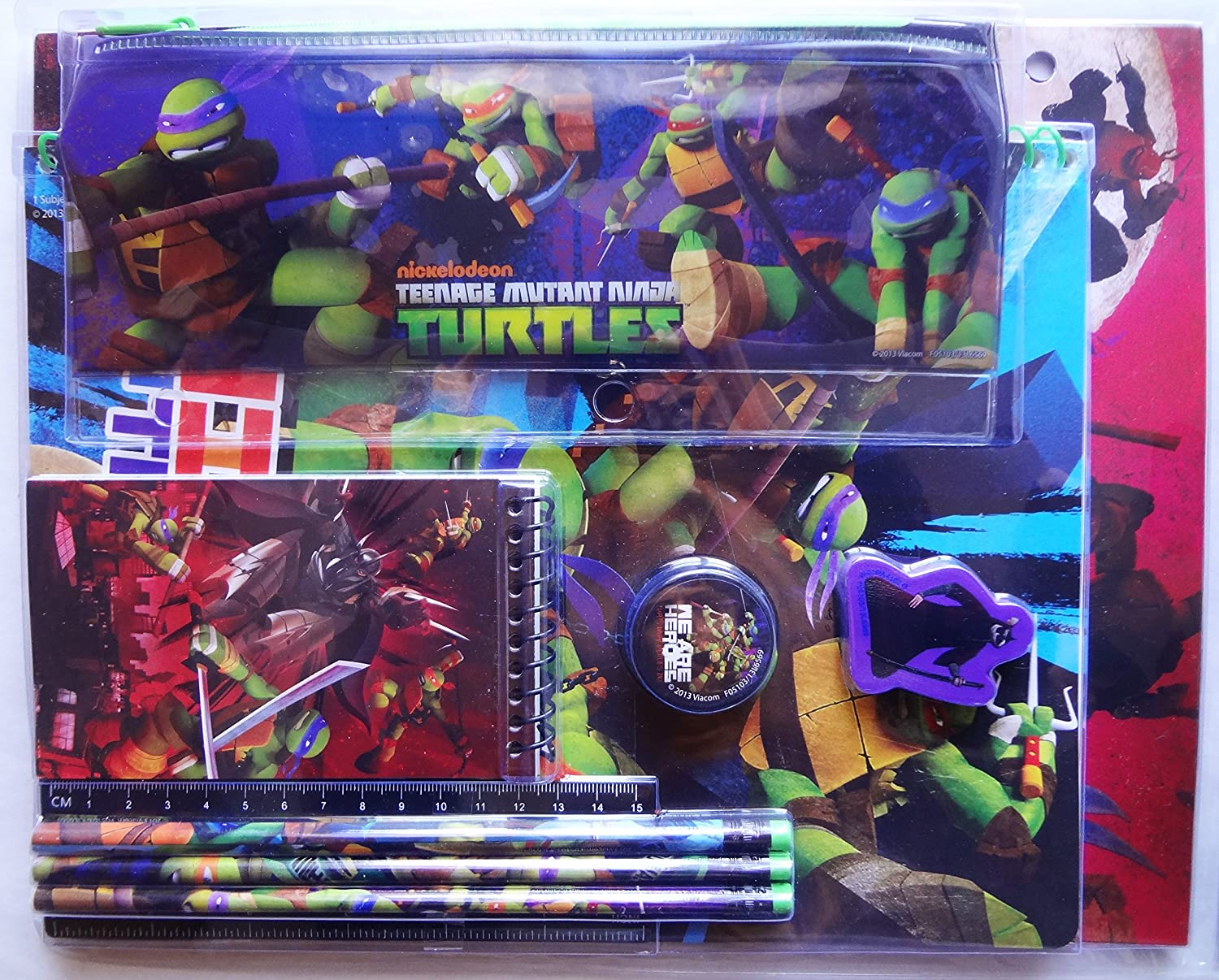 Amazon.com: Teenage Mutant Ninja Turtles 11 pieza Papelería ...