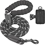 iYoShop 6 FT Strong Dog Leash with Zipper Pouch, Comfortable Padded Handle and Highly Reflective Threads Dog Leashes for Smal