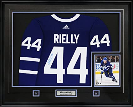 finest selection 58b13 0a3b8 Frameworth Morgan Rielly Signed Jersey Framed Pro Adidas ...