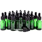 Vivaplex, 24, Green, 15 ml (1/2 oz) Glass Bottles, with Glass Eye Droppers