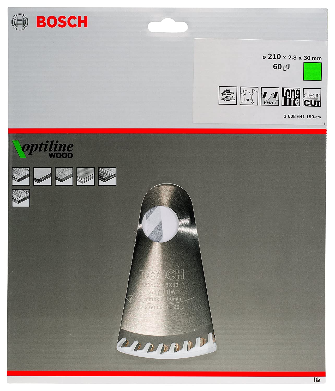36 Bosch Professional Zubeh/ör 2608640593 Kreiss/ägeblatt Optiline Wood 150 x 20//16 x 2,4 mm