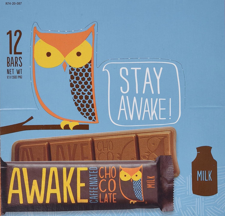 Amazon.com : AWAKE Chocolate - Milk 1.55oz - 12pk : Candy And ...