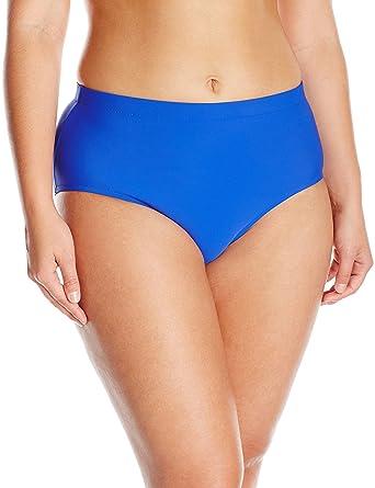 9edf87ac937fc Penbrooke Women's Tummy Control Brief Bikini Bottom, Royal Blue, ...