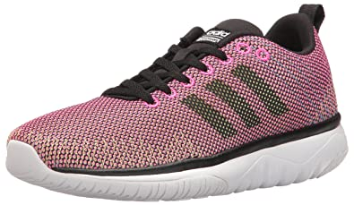 huge discount e80b8 6272c adidas Womens Cloudfoam Super Flex w Running Shoe, Shock PinkBlackWhite,