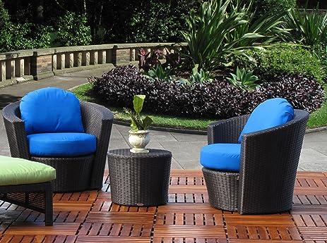 Amazon.com : Tobago Outdoor Patio Resin Wicker 45-PC Lounge Chair ...